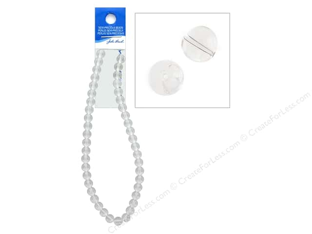 John Bead Semi Precious Bead 16 in. Quartz 10 mm Round Clear