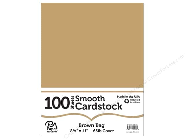 Paper Accents Cardstock 8 1/2 x 11 in. Smooth Brown Bag 100 pc.