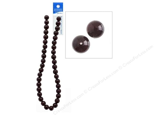John Bead Semi-Precious 16 in. 10 mm Round Garnet Natural