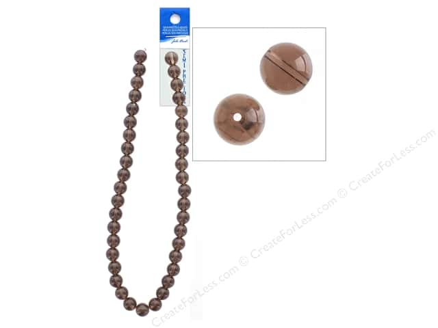 John Bead Semi-Precious 16 in. 10 mm Round Smoky Quartz Natural