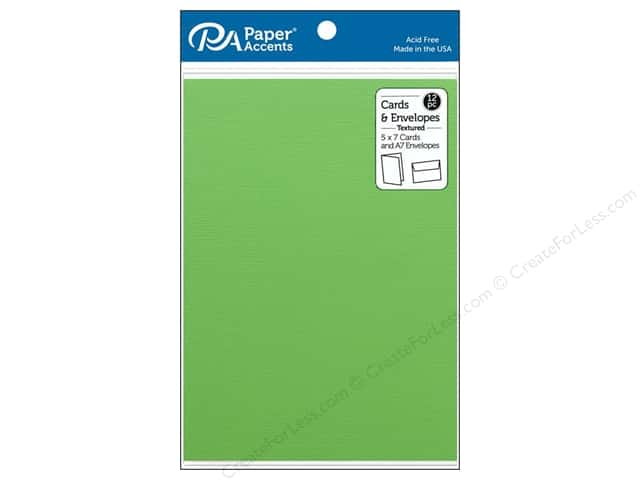 Paper Accents 5 x 7 in. Blank Card & Envelopes 12 pc. Textured Limeade