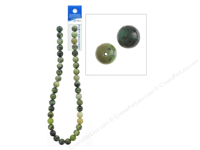 John Bead Semi-Precious 16 in. 10 mm Round Australian Jade Natural