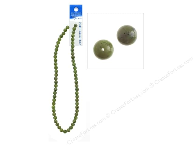 John Bead Semi Precious Bead 16 in. Jade Canadian 6 mm Ntrl