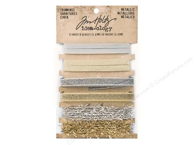 Tim Holtz Idea-ology Christmas Metallic Trimming 6 pc