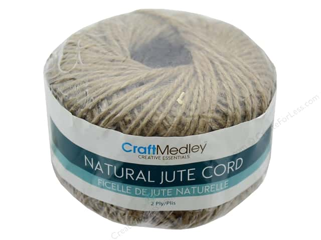 MultiCraft Cord Jute 2 ply 80 g Natural