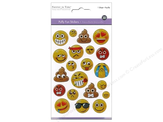 Multicraft Sticker Puffy Fun Emoji Icons