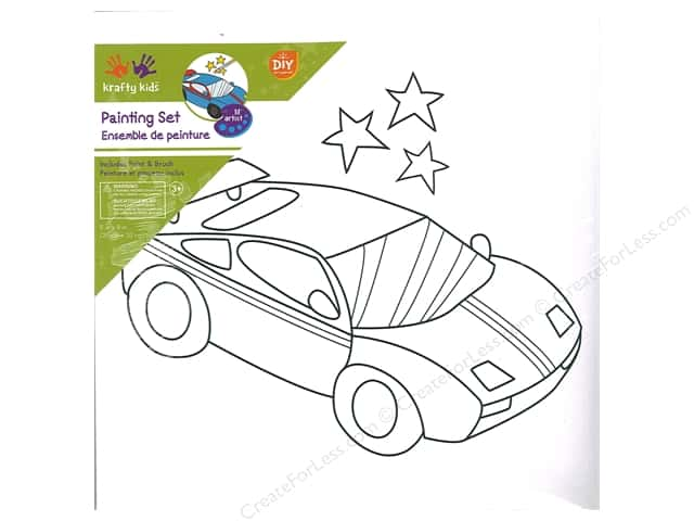 Multicraft Krafty Kids Paint It 8 in.x 8 in. Supercar