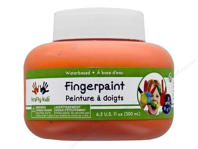 Multicraft Krafty Kids Finger Paint Jar 6.5 oz Orange