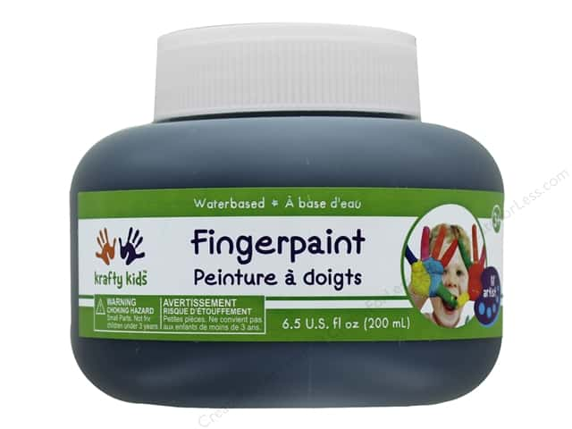 Multicraft Krafty Kids Finger Paint Jar 6.5oz Black