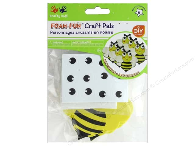 Multicraft Krafty Kids DIY Kit Foam Pal Bee's Knees