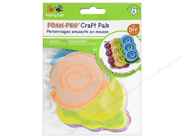Multicraft Krafty Kids DIY Kit Foam Pal Snailed It