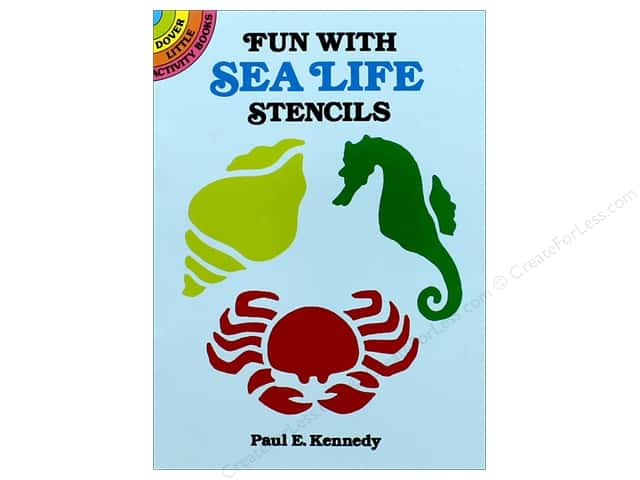 Dover Publications Little Fun With Sea Life Stencils Book