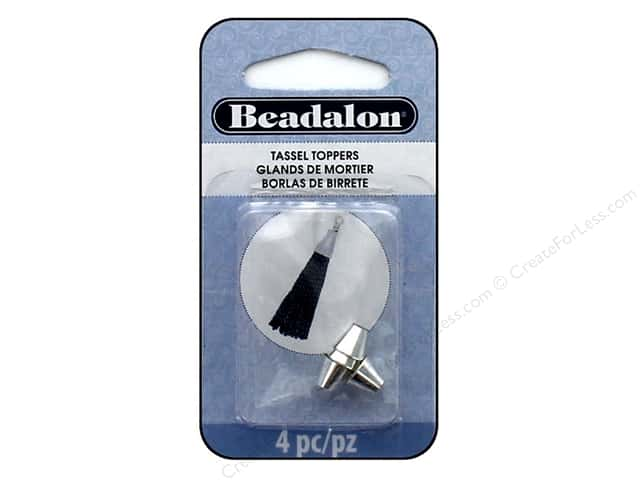 Beadalon Findings Tassel Topper Small Cone 1.3 mm Silver Plate 4 pc