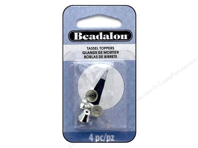 Beadalon Findings Tassel Topper Beveled Cone 1.7 mm Silver Plate 4 pc