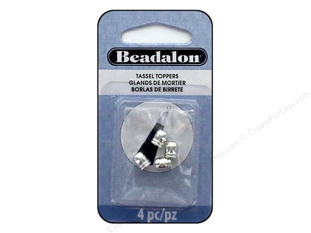 Beadalon Findings Tassel Topper 2 Line Round 1.6 mm Silver Plate 4 pc