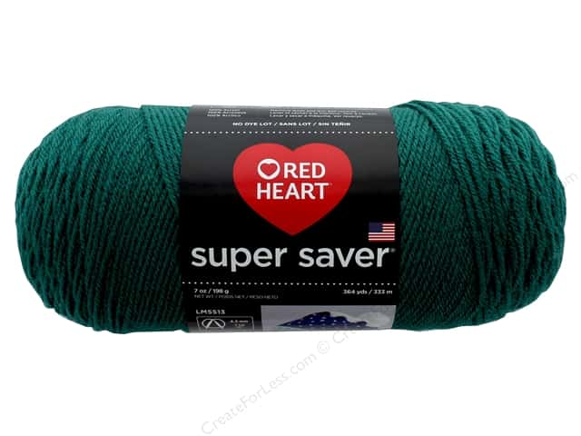Red Heart Super Saver Yarn 364 yd. #1101 Dark Jade