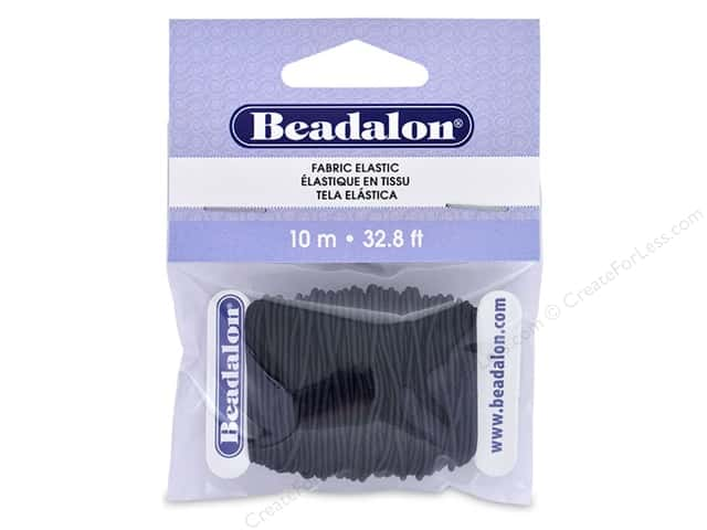 Beadalon Cord Fabric Elastic Bead 1.0 mm Black 10 M