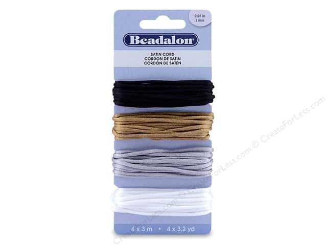 Beadalon Cord Satin 2 mm Assorted 12 M