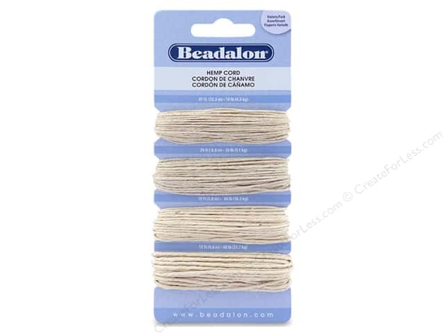 Beadalon Cord Hemp 10# 20# 36# 48# Natural