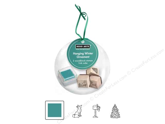 Hero Arts Rubber Stamp Set Hanging Ornament Winter