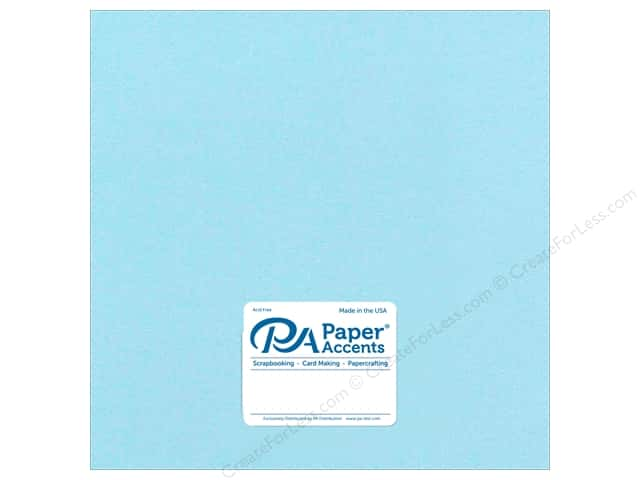 Cardstock 12 x 12 in. #8841C Pearlized Powder Blue by Paper Accents (25 sheets)