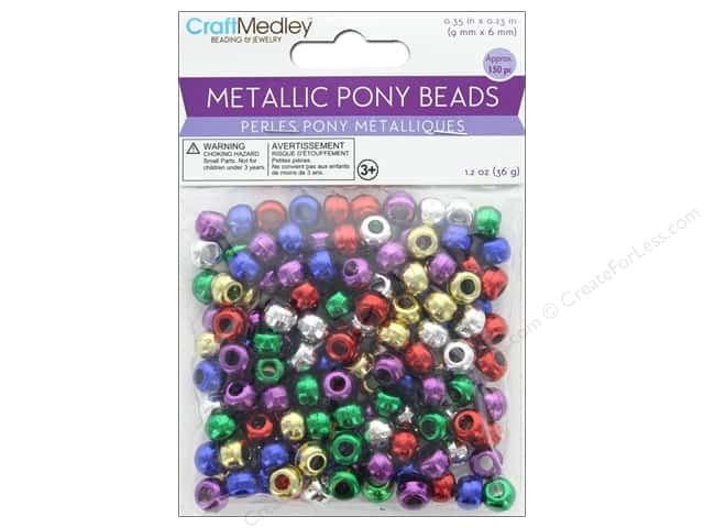 Multicraft Bead Pony 9 mm x 6 mm Barrel Metallic Multi