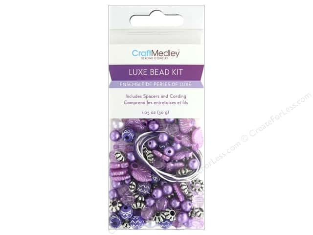 Multicraft Bead Kit Luxe 1.05 oz Purple