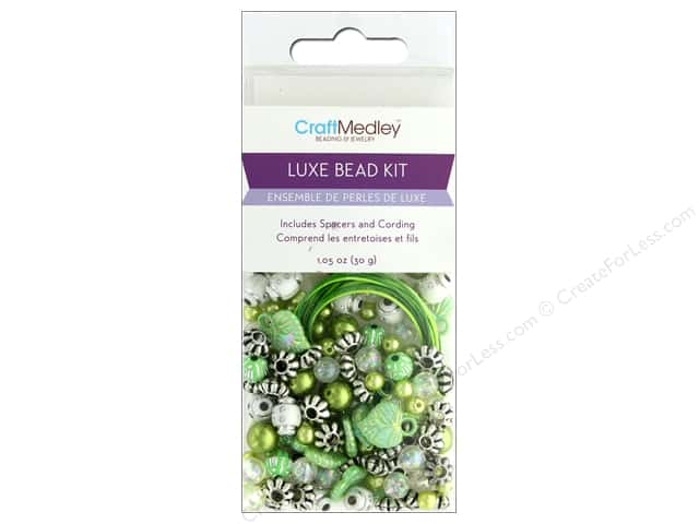 Multicraft Bead Kit Luxe 1.05 oz Green