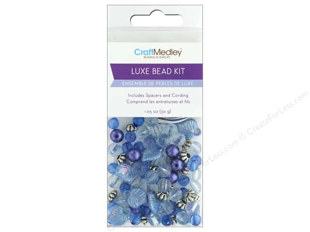 Multicraft Bead Kit Luxe 1.05 oz Blue