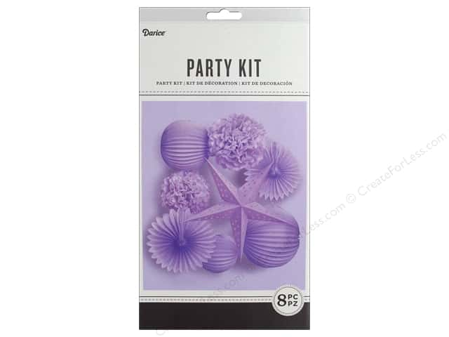 Darice Decor Kit Party Hanging Lavender 8 pc