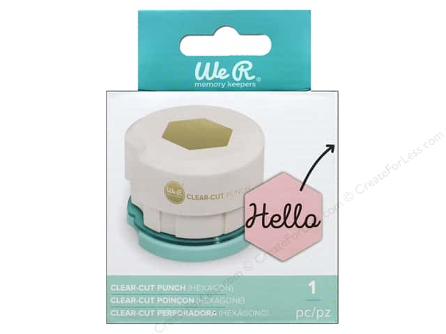 We R Memory Keepers Clear Cut Punch Hexagon