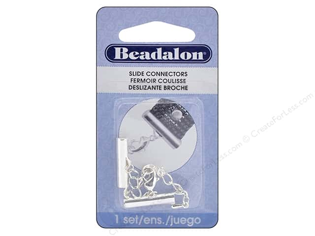 Beadalon Connectors Slide Extension Clasp 20 mm Silver Plate