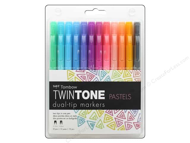 Tombow TwinTone Marker Set Pastel 12 pc