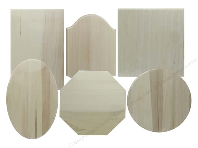 Darice Wood Plaque Unfinished Assorted (24 pieces)