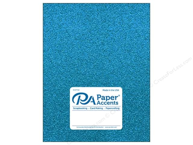 Paper Accents Glitter Cardstock 8 1/2 x 11 in. #G08 Ocean Blue 5 pc.