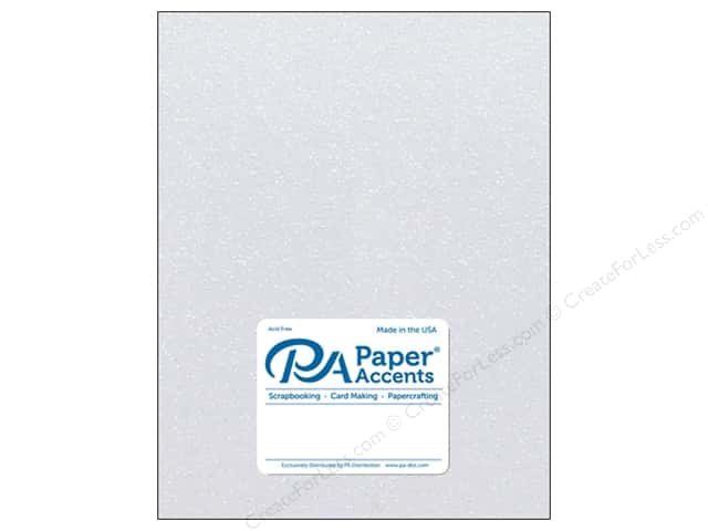 Paper Accents Glitter Cardstock 8 1/2 x 11 in. #G13 White 5 pc.