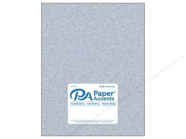 Paper Accents Glitter Cardstock 8 1/2 in. x 11 in. #G12 Silver 5 pc.