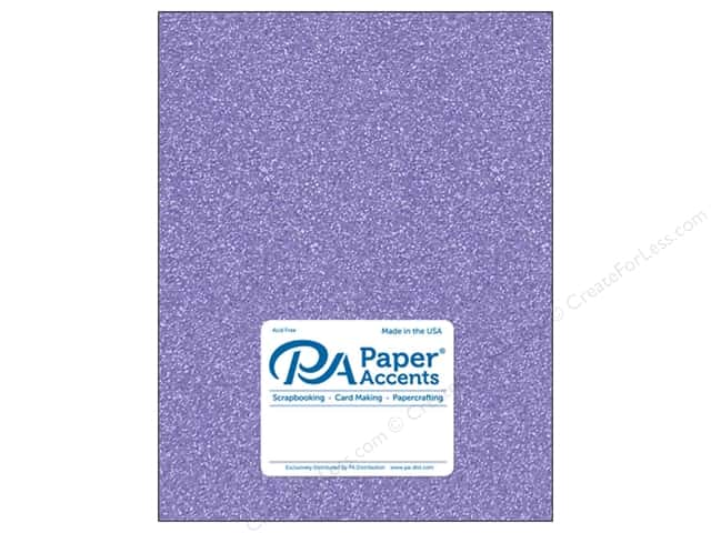 Paper Accents Glitter Cardstock 8 1/2 x 11 in. #G29 Lavender 5 pc.