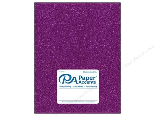 Paper Accents Glitter Cardstock 8 1/2 x 11 in. #G26 Purple 5 pc.