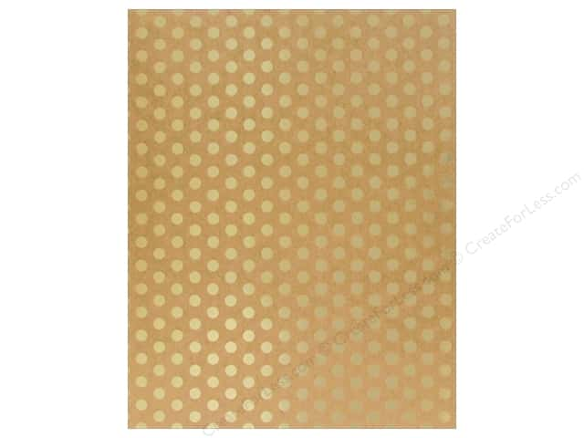 American Crafts Poster Shop Poster Board 22 in. x 28 in. Dot Kraft/Gold
