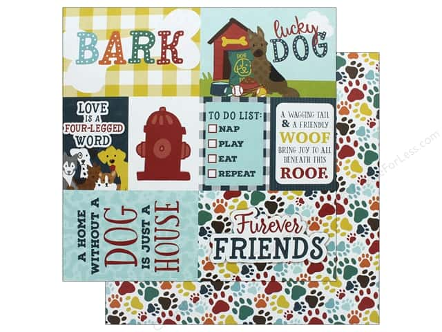 Echo Park Collection Dog Paper 12 in. x 12 in.  Journaling Cards (15 pieces)