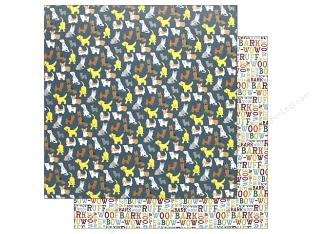 Echo Park Collection Dog Paper 12 in. x 12 in.  Bark (15 pieces)