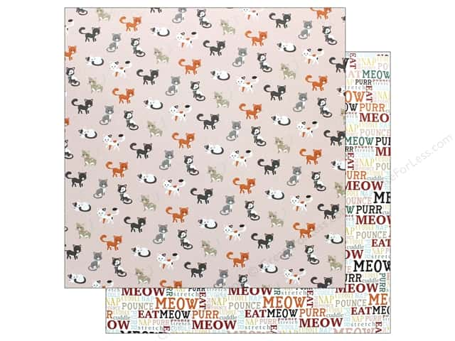 Echo Park Collection Cat Paper 12 in. x 12 in. Meow (15 pieces)