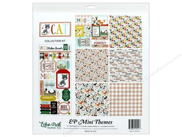 Echo Park Collection Cat Collection Kit 12 in. x 12 in.