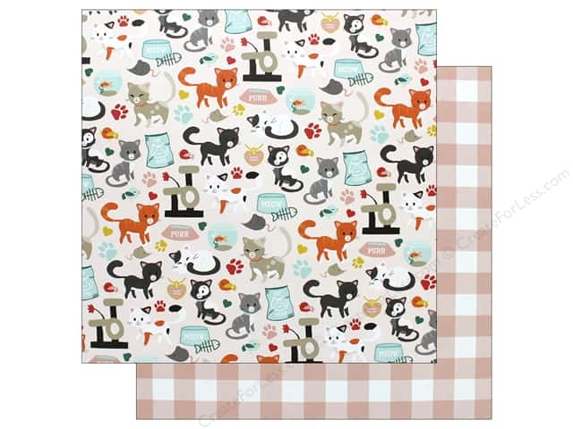 Echo Park Collection Cat Paper 12 in. x 12 in. Cat Friends (15 pieces)