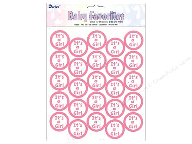 Darice Sticker Its A Girl Clear Seal 50 pc