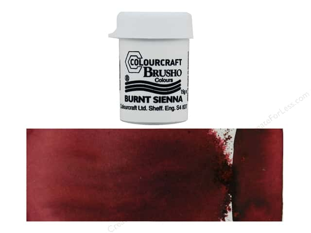 Colourcraft Brusho Crystal Colours - Burnt Sienna 15 gr.