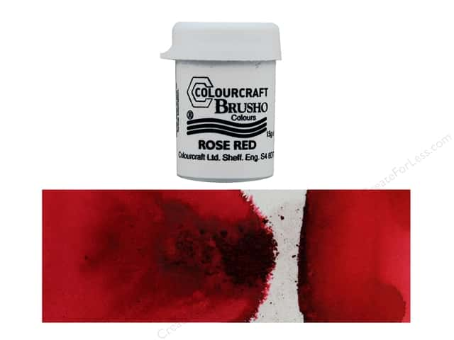 Colourcraft Brusho Crystal Colour 15 gr Rose Red