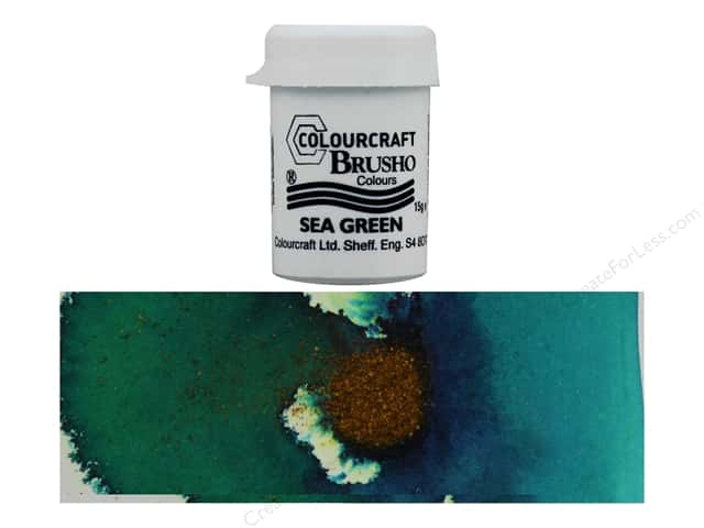 Colourcraft Brusho Crystal Colour 15 gr Sea Green