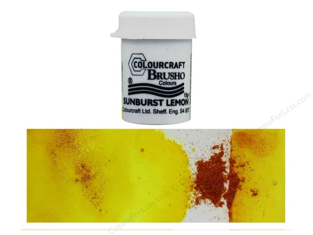 Colourcraft Brusho Crystal Colour 15 gr Sunburst Lemon